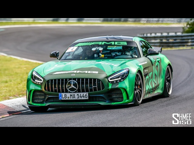 AMG GT R Fast Nurburgring HOT LAP and CHASE!