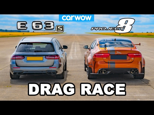 AMG E63 S v Jaguar Project 8: DRAG RACE