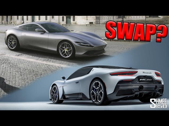 The Ferrari and Maserati CAR SWAP MYSTERY? Behind the New MC20 and Roma