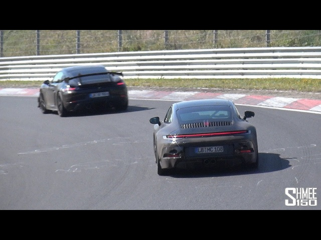 New Porsche 992 GT3 Touring and GT4 RS! Testing at the Nurburgring