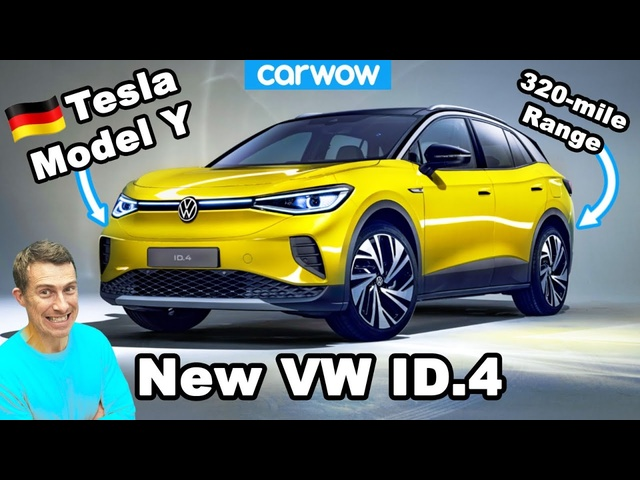 Volkswagen's 'Tesla Model Y' - the new 320-mile range ID.4! FULL DETAILS!