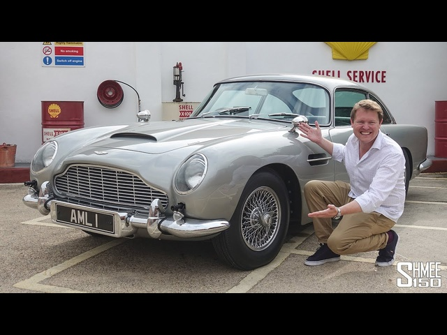 Driving JAMES BOND'S Aston Martin DB5 with all the WORKING GADGETS!