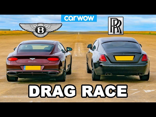 Rolls-Royce Wraith vs <em>Bentley</em> GT: DRAG RACE!