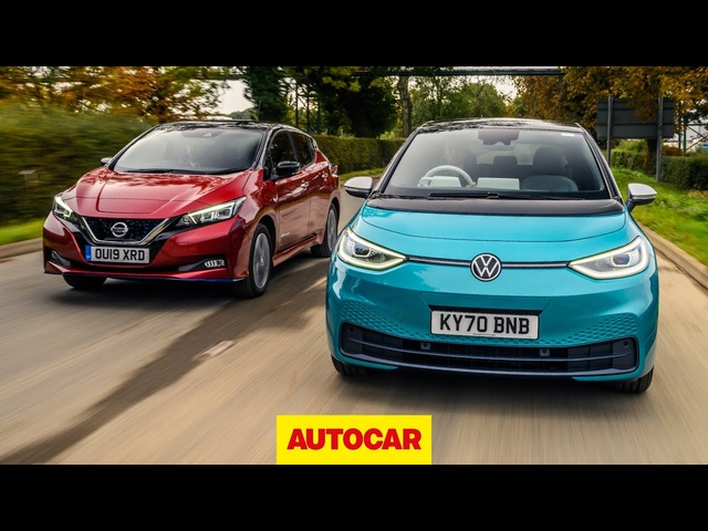 Volkswagen ID 3 v Nissan Leaf review | which is the best new EV? | Autocar