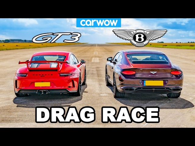 Porsche 911 GT3 vs <em>Bentley</em> Continental GT - DRAG RACE!