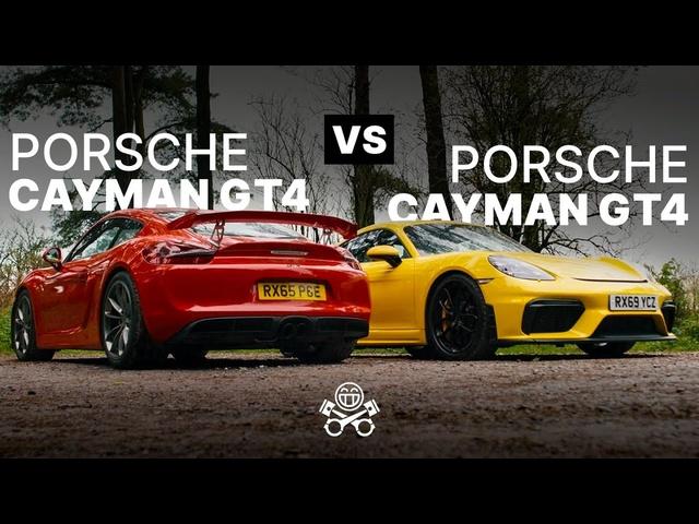 Porsche Cayman GT4 (981) vs. Porsche 718 Cayman GT4 | PistonHeads