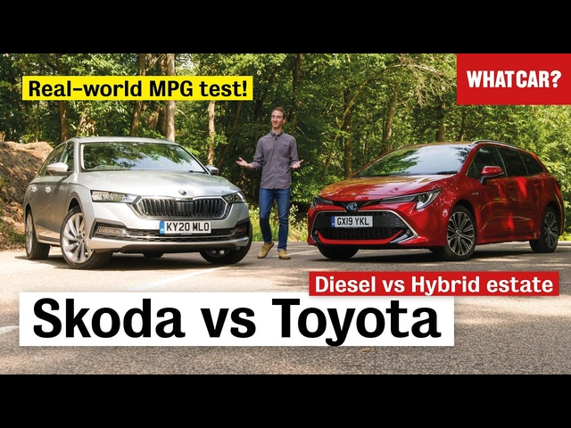 Skoda Octavia Estate vs Toyota Corolla Touring Sports review – diesel or hybrid? | What Car?