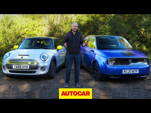 <em>Honda</em> E vs Mini Electric review | Funky EVs head to head | Autocar
