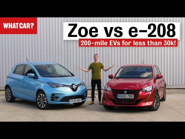 Renault Zoe vs Peugeot e-208 review – what's the best cheap EV? | What Car?