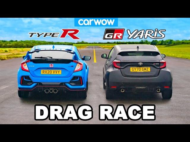 Toyota GR Yaris v <em>Honda</em> Civic Type R - DRAG RACE
