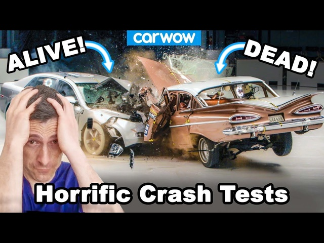 The most horrific crash tests -why you don't want an accident in an OLD car!