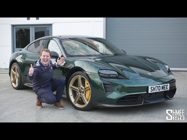 My Porsche Taycan is COMPLETE! Wrapped in Midnight Green and Gold