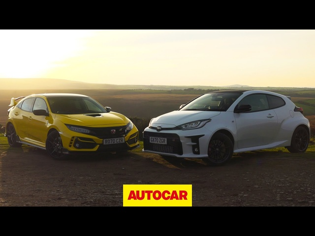 Toyota GR Yaris meets <em>Honda</em> Civic Type R | Which is 2020's best hot hatch? | Autocar