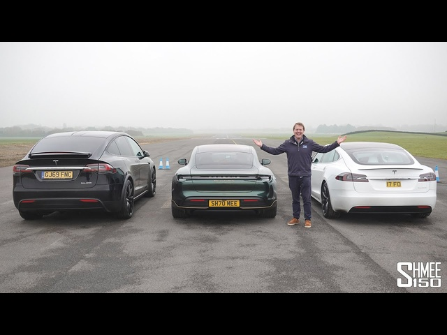 Porsche Taycan Turbo S vs <em>Tesla</em> Model S Performance Cheetah | DRAG RACE