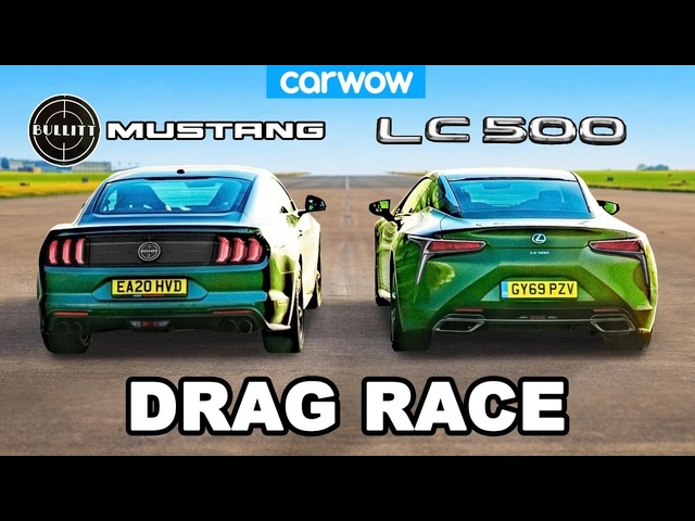 <em>Ford</em> Mustang v Lexus LC500 -V8 DRAG RACE