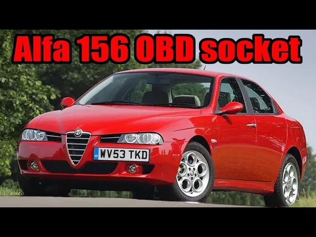 How to find the OBD diagnostic socket in aan Alfa Romeo 156