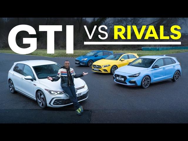 NEW VW Golf GTI vs Focus ST, AMG A35, <em>Hyundai</em> i30N | 4K
