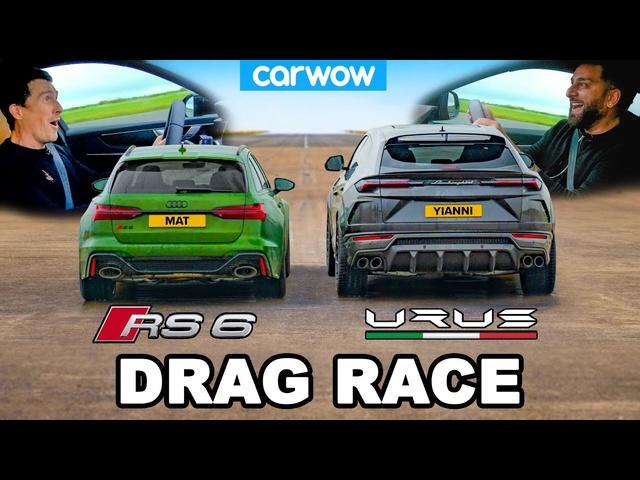 Audi RS6 v Lamborghini Urus -DRAG RACE *Mat vs Yianni*