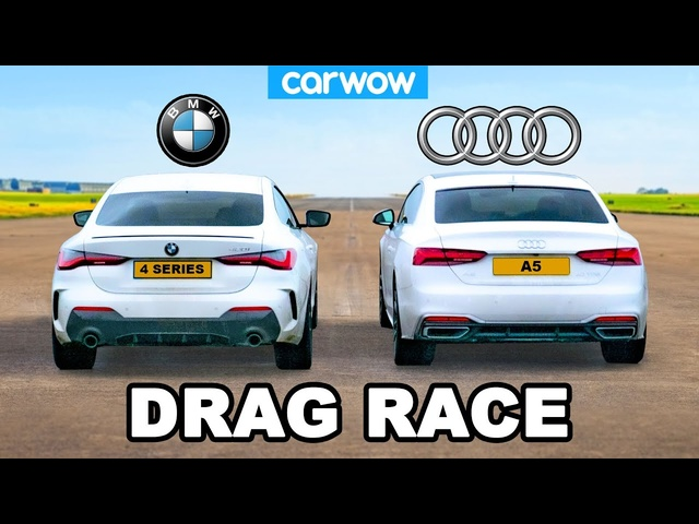 BMW 4 Series vs Audi A5 - DRAG RACE