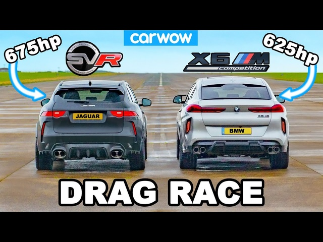 BMW X6M vs 675hp <em>Jaguar</em> F-Pace SVR 'Lister': DRAG RACE