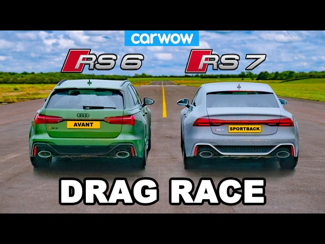 Audi RS7 vs RS6 -DRAG RACE