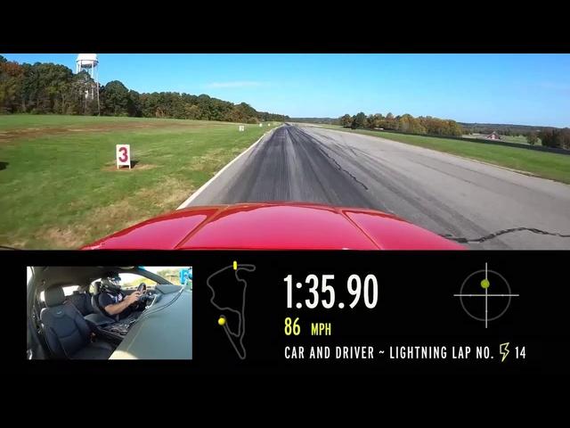 2020 Cadillac CT4-V at Lightning Lap 2021
