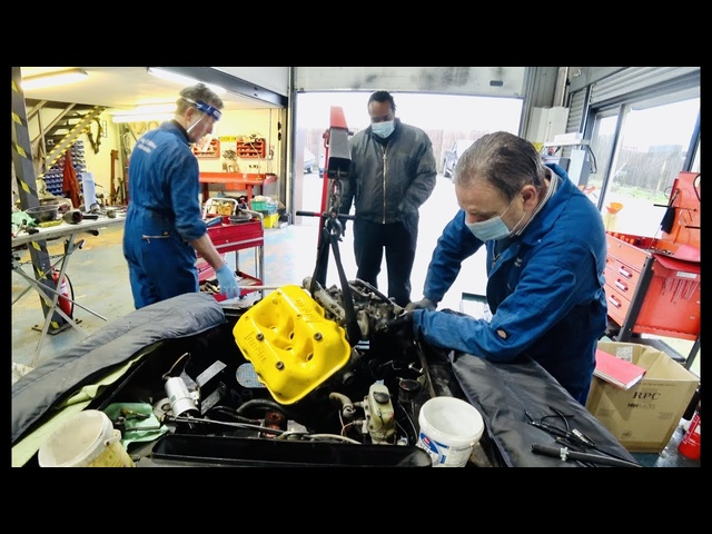 Lancia Fulvia Zagato 1600 resto Part 1. Engine removal & strip down