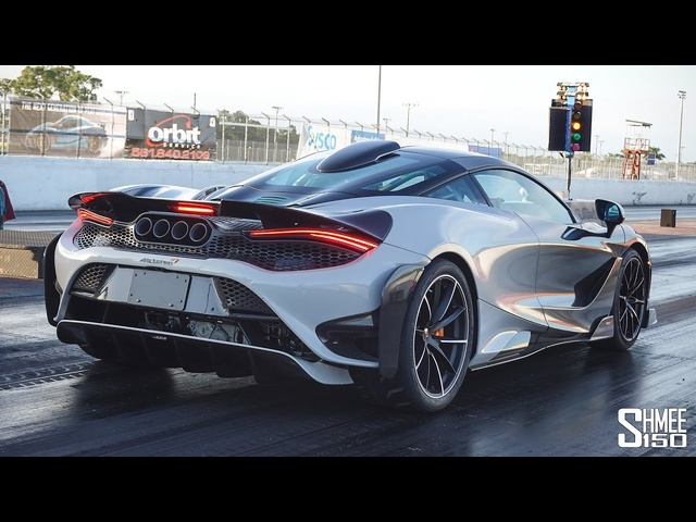 McLaren 765LT Runs RECORD 1/4 Mile in 8.916s!