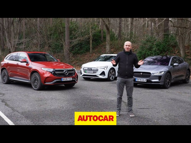 Audi e-tron Sportback vs <em>Jaguar</em> i-Pace vs Mercedes EQC review | Luxury SUVs head-to-head | Autocar