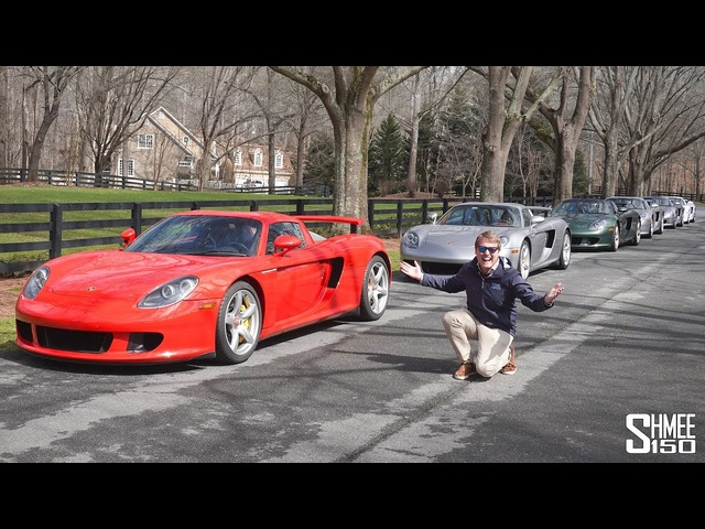 Porsche Carrera GT MADNESS! Six Car Convoy with Straight Pipes