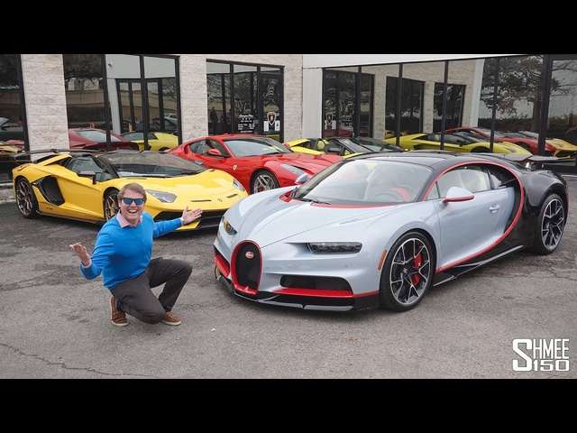 Surprise <em>BUGATTI</em> CHIRON Drive to Collect an Aventador SVJ!