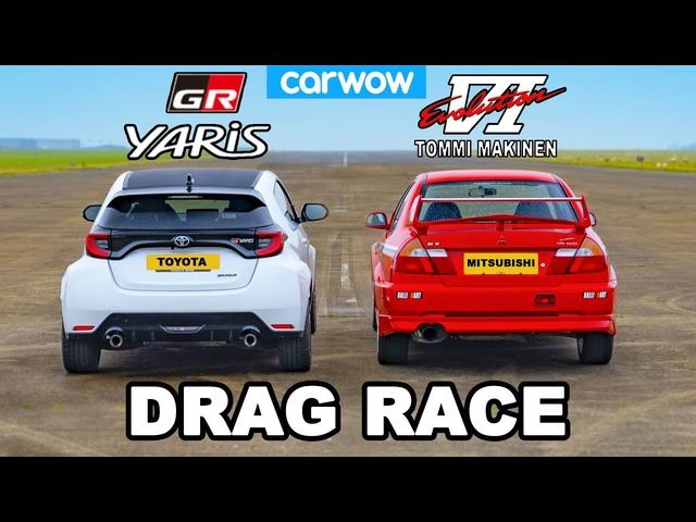 Toyota GR Yaris v Mitsubishi Evo VI -DRAG RACE *Tommi Makinen Showdown*