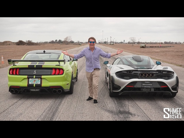 The McLaren 765LT is THIS MUCH FASTER than My Shelby GT500 in aDrag Race!