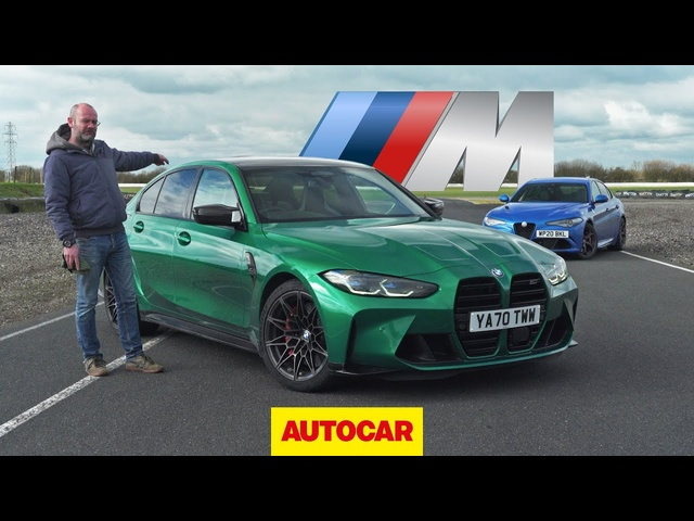 New BMW M3 Competition 'G80' vs 2021 Alfa Romeo Giulia Quadrifoglio review | Autocar