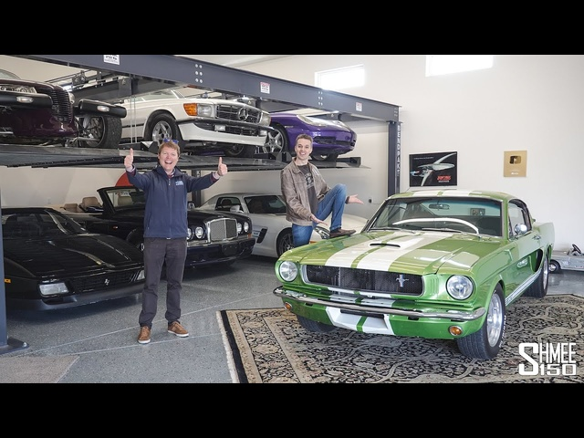 VISITING HOOVIE'S GARAGE! Hooptie Fleet Tour, Ferrari for CarTrek and Mustang Drive Out