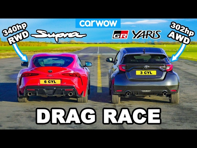300hp GR Yaris v Supra 3.0-litre -DRAG RACE