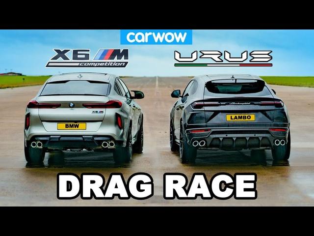 Lamborghini Urus v BMW X6M -DRAG RACE