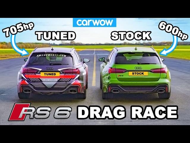Audi RS6 -DRAG RACE *Tuned v Standard*