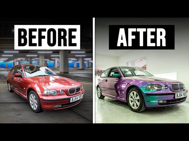 Flip Paint Wrapping Project <em>BMW</em> E46 Compact