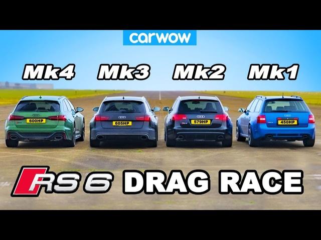 Audi RS6 generations DRAG RACE