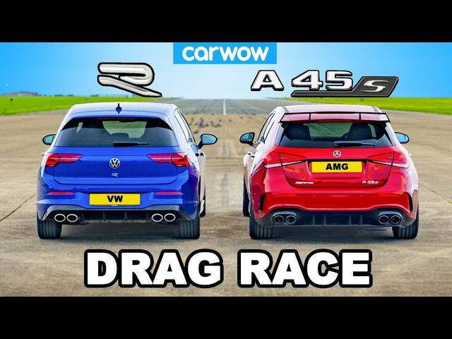 New VW Golf R vs AMG A45 -DRAG RACE *The Truth!*