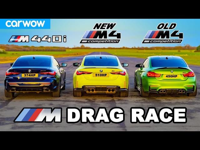New BMW M4 v Old M4 v M440i -DRAG RACE