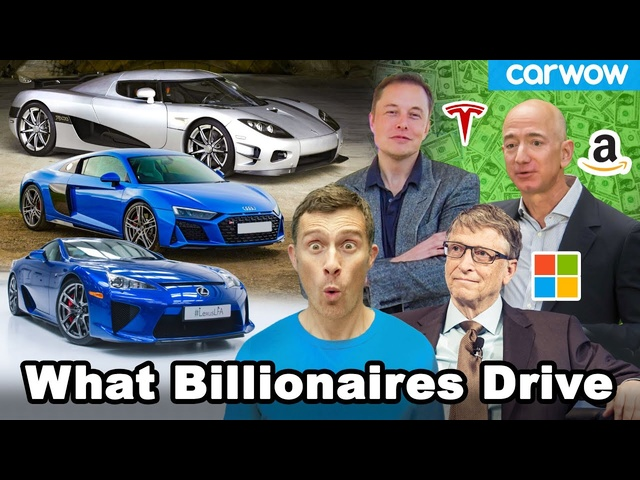 The cars Musk, Bezos, Gates & other 20 richest people drive!