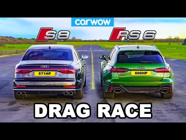 Audi S8 v Audi RS6 -DRAG RACE