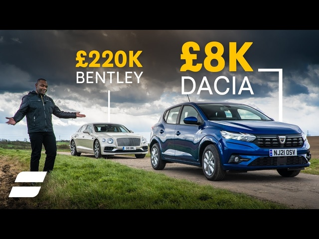 Dacia Sandero Review: £8K hatchback vs £220K Bentley | 4K