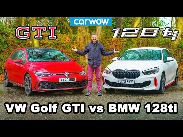 <em>BMW</em> 128ti v VW Golf GTI -review & 0-60mph, 1/4-mile and brake comparison!