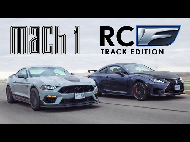 V8 RIVALS! 2021 Ford Mustang Mach 1 vs Lexus RCF Track Edition