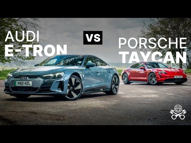 Porsche Taycan 4S vs Audi e-tron GT for world's best EV | PistonHeads
