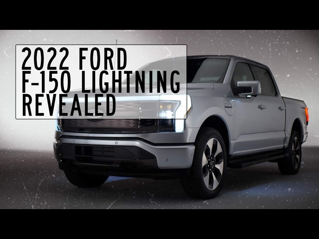 2022 Ford F-150 Lightning Electric Pickup Truck Revealed