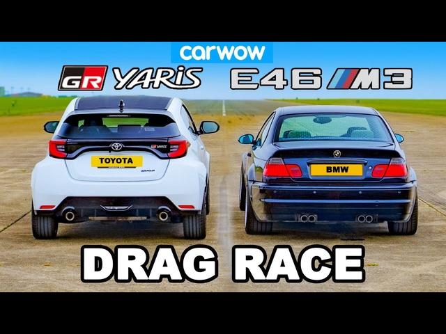 <em>BMW</em> E46 M3 v Toyota GR Yaris: DRAG RACE